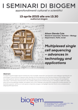 Multiplexed single cell sequencing – advances in