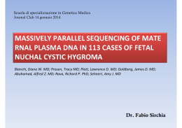 massively parallel sequencing of mate rnal plasma dna in 113 cases