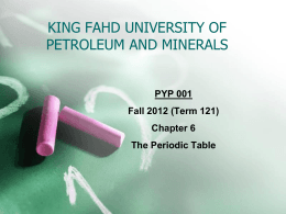 Chapter 6 - Faculty - King Fahd University of Petroleum and Minerals