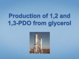Obtencion of 1,2 and 1,3-PDO from glycerol - IQ