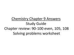 Chemistry Chapter 9 Answers Study Guide Chapter