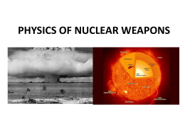 PHYSICS OF NUCLEAR WEAPONS