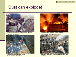 Fire, Dust Hazard and Explosions