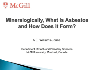 Williams-Jone Asbestos Presentation 2013