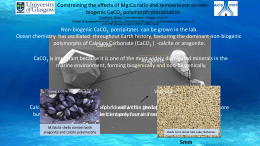 Constraining the effects of Mg:Ca ratio and temperature on