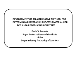 1 - The ACP Sugar Research Programme
