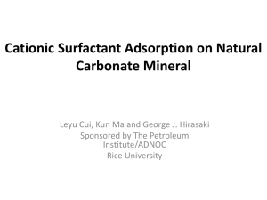 Surfactant Adsorption on Natural Mineral