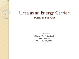 Urea as an Energy Carrier
