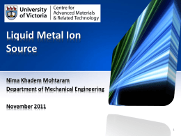 Liquid Metal Ion Source