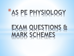 as pe physiology revision exam questions & mark schemes
