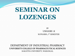 Lozenges - Drud Delivery Vehicles