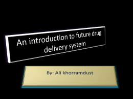 An introduction to future drug delivery system