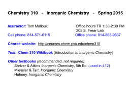 Chapter 1 - Review of chemical bonding