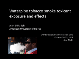 Waterpipe tobacco smoke toxicant exposure and effects