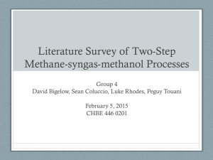 Literature Survey of Two-Step Methane-syngas