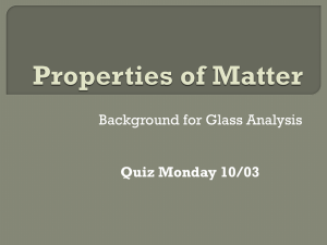 Properties of Matter-Forensic Science