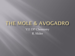 The Mole & Avagadro - slider-dpchemistry-11