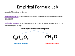 empirical formula of zinc iodide The objective of this lab is to determine the empirical formula of an ionic solid(all ionic formulas are empirical) this ionic compound contains copper and iodide, therefore the formula is either cui or cui 2.