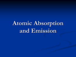 Atomic Absorption and Emission Flame Tests