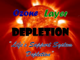 Ozone Layer Depletion (Part 1)