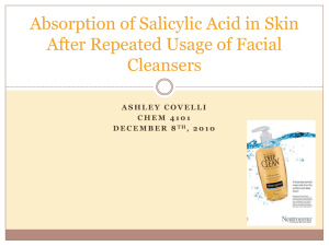 Detection of Salicylic Acid in Facial Cleansers