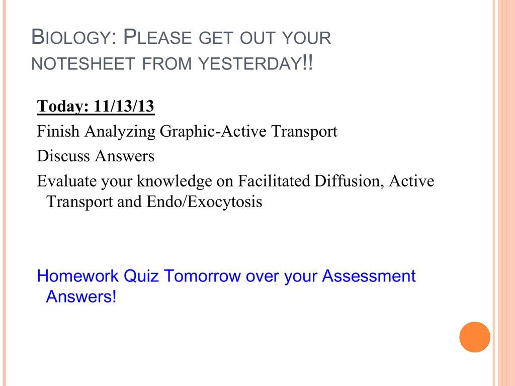 biology homework answers