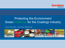 green additives for the coatings industry
