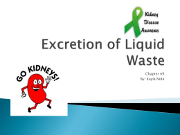 Excretion of Liquid Waste