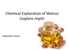 Fatty acid analysis of walnut oil