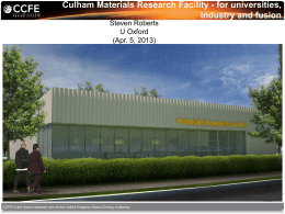 A Materials Research Facility at Culham