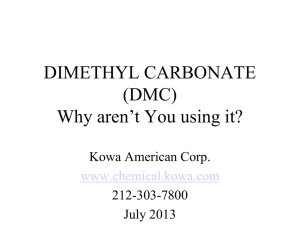 Dimethyl Carbonate (DMC) - Kowa American Corporation