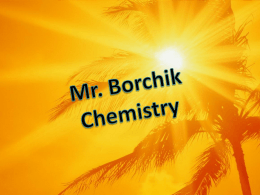 Objectives - Mr. Borchik