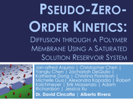 Pseudo-Zero-Order Kinetics: Diffusion through a