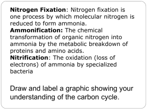 Nitrogen Fixation: Nitrogen fixation is one process by which