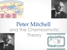 (1) Peter Mitchell and the Chemiosmotic Theory