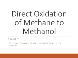 how to make methanol from methane