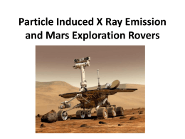 Alpha Proton X-ray Spectrometry (APXS) and the Mars Pathfinder