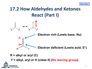 Chapter 17 Carbonyl Compounds II 17.2