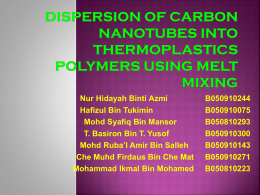 Dispersion of Carbon Nanotubes Into