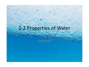 2-2 PowerPoint Notes properties of water