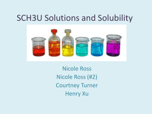 SCH3U Solutions and Solubility - OISE-IS-Chemistry-2011-2012