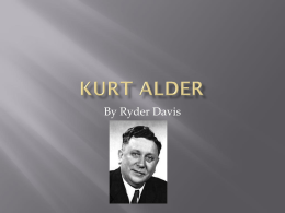 HERE - Ryder`s Kurt Alder project