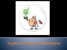 Types of Chemical Reactions - Ms
