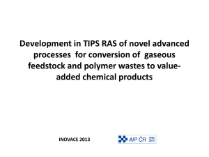 Development in TIPS RAS of novel advanced processes for