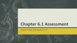 Chapter 6_1 Assessment