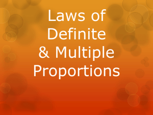 Laws of Definite & Multiple Proportions