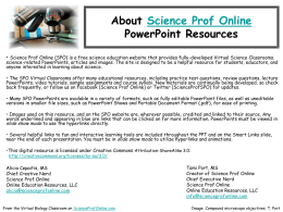 Editable Lecture PPT - Science Prof Online