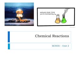 Presentation - Chem Rxns - stpats-sch3u-sem1-2013