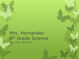 Mrs. Hernandez 8th Grade Science