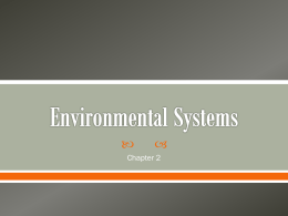 Chapter 2 - Environmental Systems